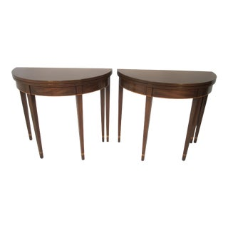 Kittinger Mahogany Card Tables - a Pair For Sale