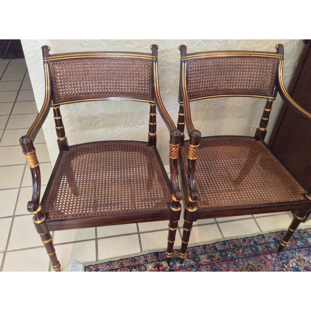 Vintage Baker Regency Accent Chairs - A Pair - Image 6 of 7