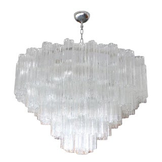 1970s Glass Tiered Mazzega Chandeliers For Sale