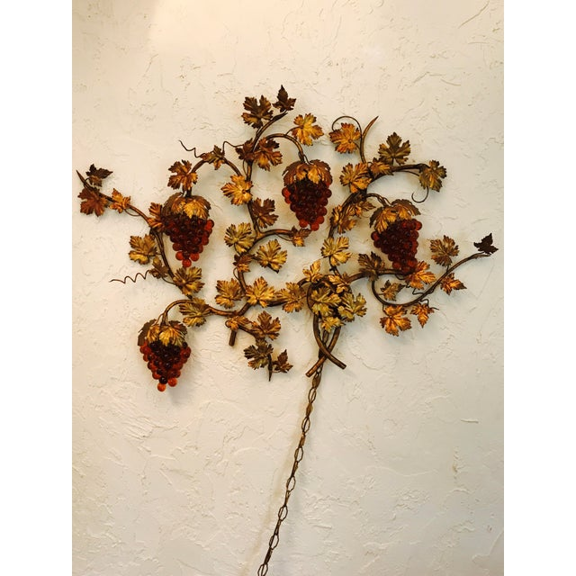 Vintage Murano Grape Cluster Light For Sale - Image 10 of 10