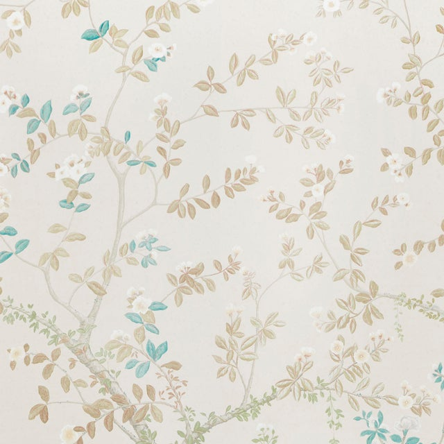 Contemporary Sample - Schumacher X Miles Redd Madame De Pompadour Wallpaper in Alabaster For Sale - Image 3 of 3