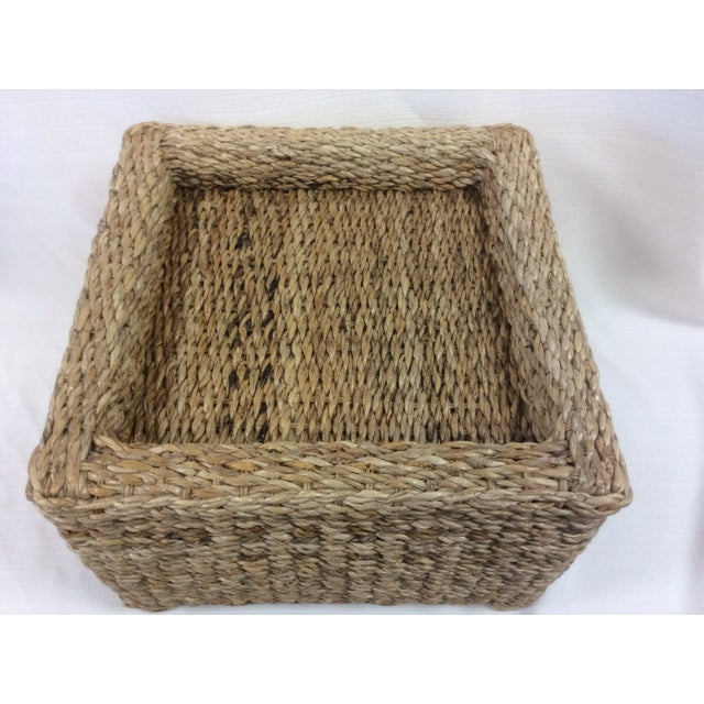Handmade Woven Stool Mimbre Brown - Image 3 of 9