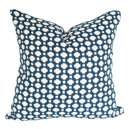 "Betwixt Indigo Blue Pillow Cover 18"" Sq - Image 3 of 3"