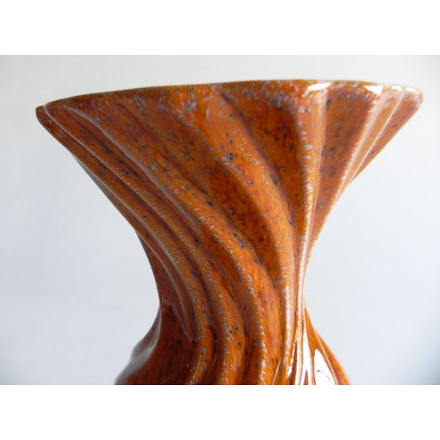 Global Views Mandarin Orange, Twisted Vase. Great for dry flowers or display on it's own.