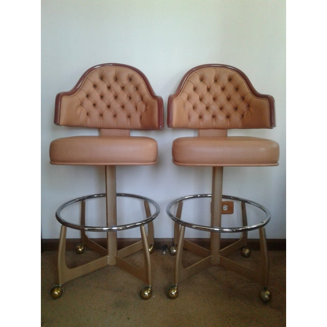 Mid-Century Style Gasser Bar Chairs - a Pair For Sale - Image 13 of 13