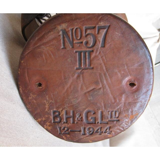 Vintage Leather Fire Bucket Lamp For Sale - Image 5 of 7