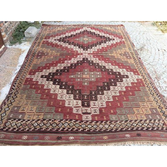 Islamic Vintage Turkish Anatolian Rug - 5′6″ × 9′1″ For Sale - Image 3 of 6