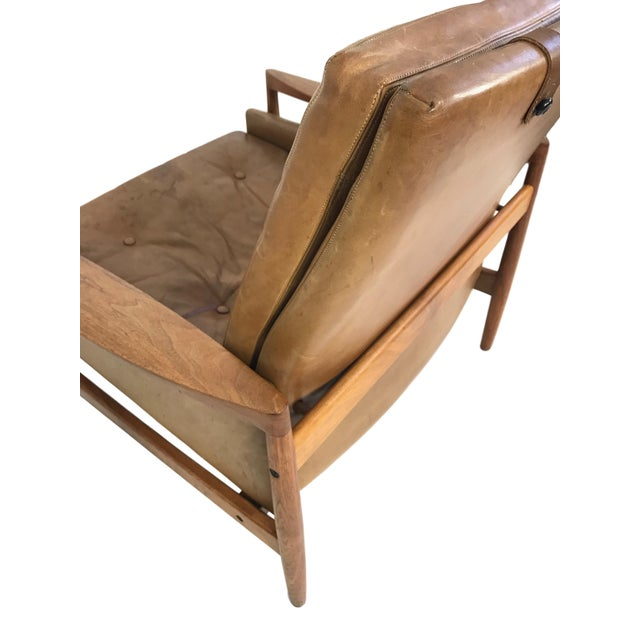 1960s Vintage Erik Worts Danish Armchair For Sale - Image 10 of 13