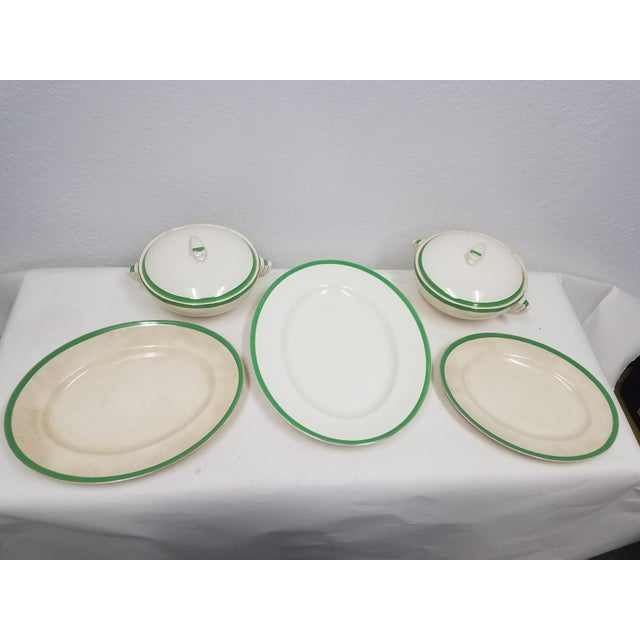 Art Deco Antique Wedgwood Art Deco Serving Platters and Bowls - Found in Devon For Sale - Image 3 of 12