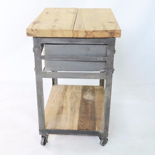 Industrial Bedside Tables - A Pair For Sale - Image 4 of 5