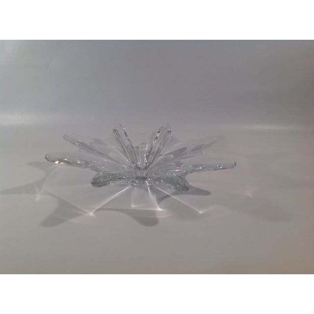 Beautiful sparkling solid crystal decorative bowl from made by the world renowned crystal and art glass maker, Baccarat,...