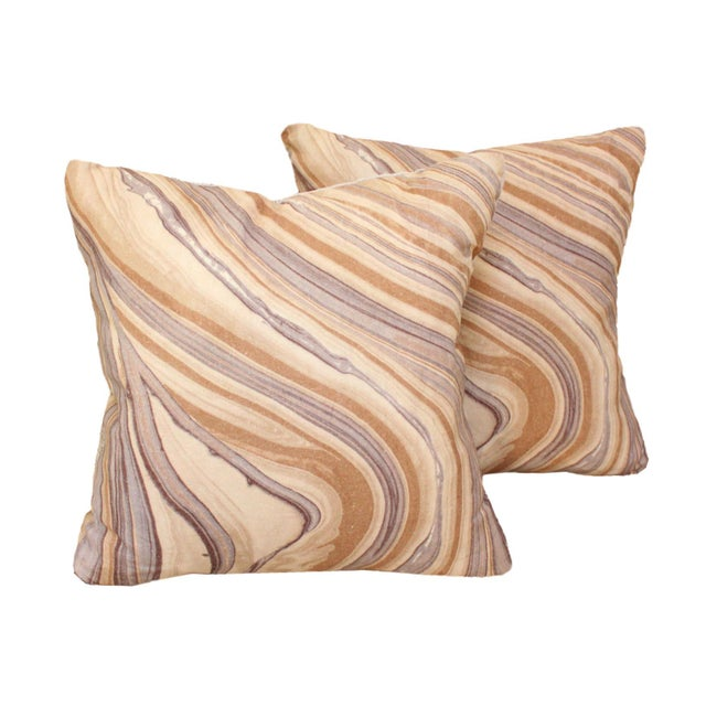 2010s Groundworks Bordello Truffle for Lee Jofa Square Pillows - a Pair For Sale - Image 5 of 5