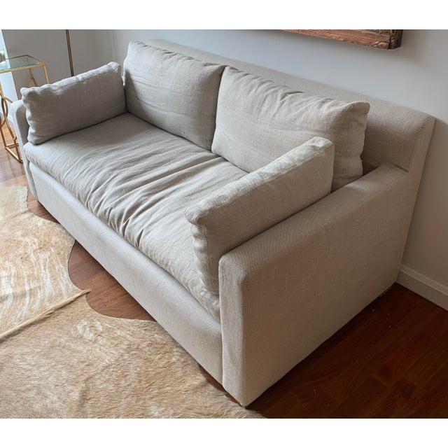 Restoration Hardware Restoration Hardware Belgian Track Arm Sofa For Sale - Image 4 of 7