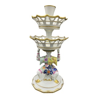 1980s Mottahdeh Porcelain, Compote Display With Two Tiers. For Sale