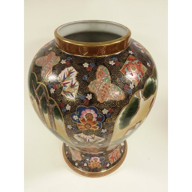 Chinese Famille Rose Vintage Style Temple Jar/Pair - Image 6 of 8