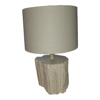 White Bark 'Simon' Lamp With Shade For Sale