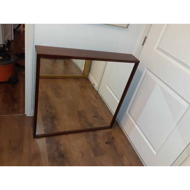 Mid-Century Modern Wood Framed Mirror For Sale - Image 10 of 10