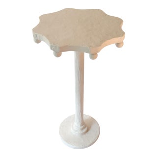 Modern Artisan Small Accent Table White For Sale