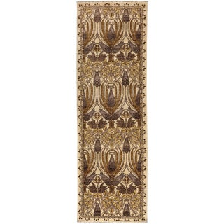 "Arts & Crafts Hand Knotted Runner Rug - 2'6"" X 8'5"""
