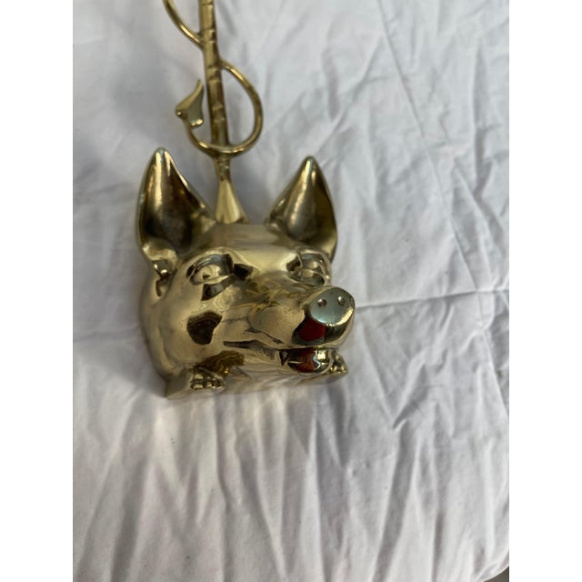 Brass 1980s English Brass Fox Doorstop For Sale - Image 8 of 11
