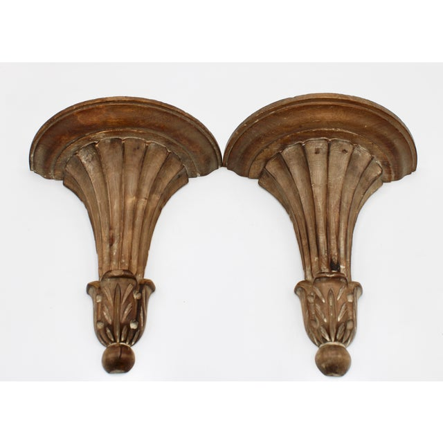 Italian Italian Wooden Wall Shelves - a Pair For Sale - Image 3 of 10
