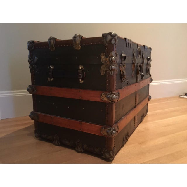 Antique English Steamer Trunk - Image 10 of 10