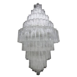 Tiered Murano Chandelier For Sale