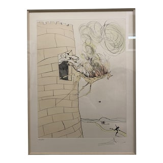 """Salvador Dali """"The Great Inquisitor Expels the Saviour"""" Etching A32/135 For Sale"""