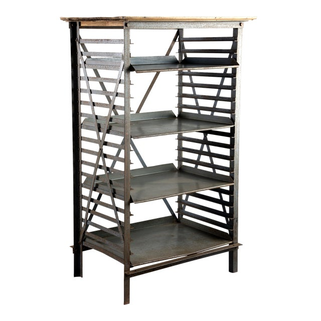 ndustrial Blue Metal Adjustable Shelf Unit - Image 1 of 8
