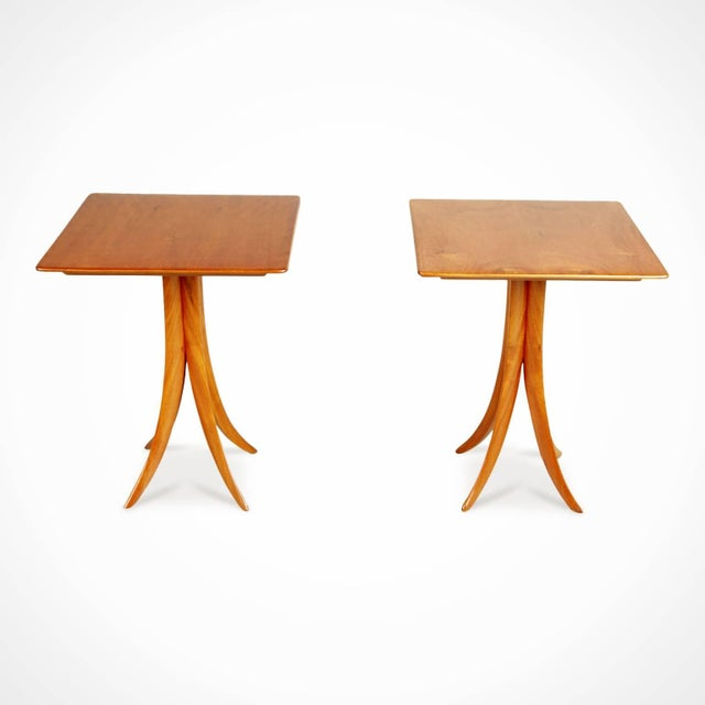 Newly imported from a private collector in Brazil, these sculptural side tables embody the use of curvaceous lines and...