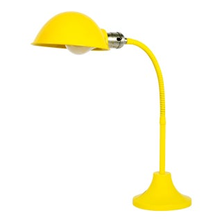 1960s Gooseneck Desk Lamp Refinished in Mellow Yellow For Sale