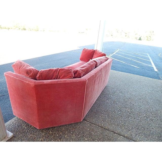 Baker Furniture Co. Red Crushed Velvet Sofa - Image 6 of 8