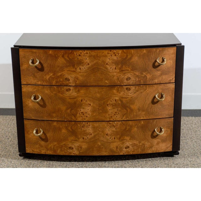 A beautiful and functional vintage pair of three (3) drawer chests by Hickory White. Can be used as end tables or...