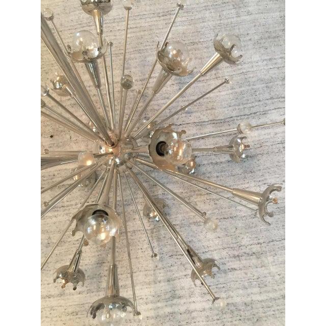 Jonathan Adler Jonathan Adler Polished Nickel Sputnik Chandelier For Sale - Image 4 of 7