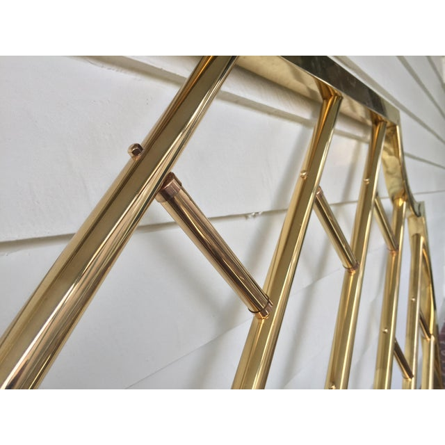 Chinese Chippendale Style Brass Queen Bedframe - Image 5 of 11