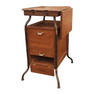 1920's Vintage Gestetner Duplicator Machine Wooden Cabinet For Sale