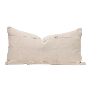 Neutral Handwoven Textured Pillow For Sale