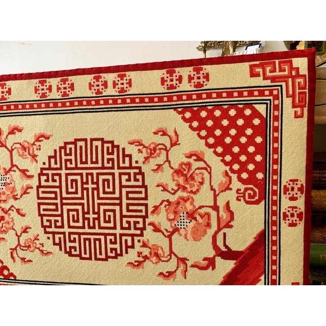 1940s Chinese Textile Art Needlepoint Panel For Sale - Image 5 of 9