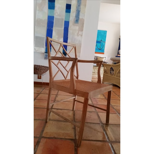 Maple Rattan Dining Chairs - 6 - Image 2 of 5