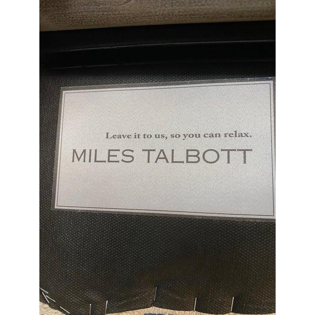 Light Gray New Miles Talbott Company Zoe Swivel Bar Stool For Sale - Image 8 of 10