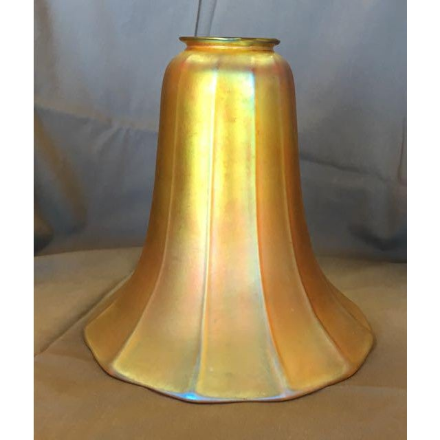 Art Nouveau Antique Steuben Aurene Glass Shade For Sale - Image 3 of 8