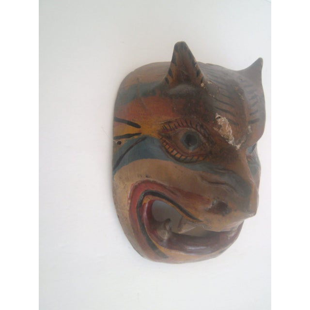 Vintage Antique Mexican Dance Mask - Image 4 of 8