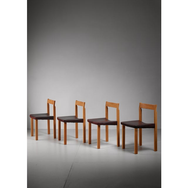 Mid-Century Modern Olavi Hanninen set of four 'Tuomas' dining chairs, Finland, 1950s For Sale - Image 3 of 3