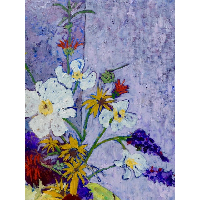 Blue Wildflowers - Large Oil Painting by Martha Holden For Sale - Image 8 of 10