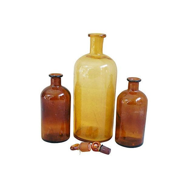 Antique French Apothecary Bottles - Set of 3 - Image 2 of 3