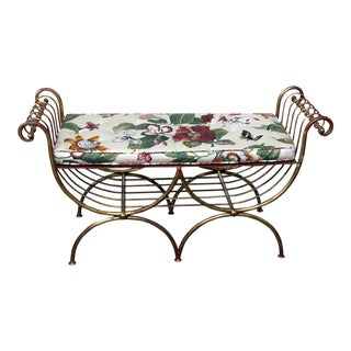 Hollywood Regency Style Bench For Sale