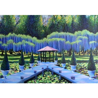 """Gazebo"" Large Geoff Greene Painting (Ready for Display) For Sale"
