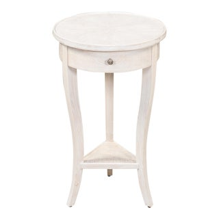Herrington Table, Whitewash White For Sale