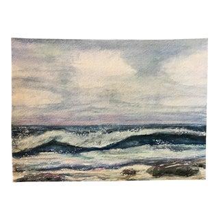 "Nancy Smith Original ""Colonies of Joy"" Seascape Watercolor Painting For Sale"