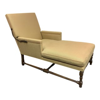 Formations Custom Adjustable Chaise + Turned Leg Base For Sale